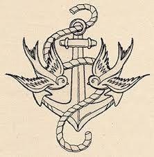 Resultado de imagem para old school tattoo anchor