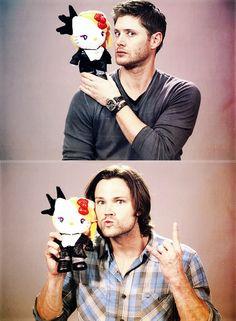 Jensen & Jared being funny... #Supernatural