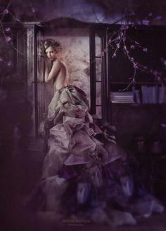 Photos of Russian photographer Nadezhda Shibina: Part 2 - 01 Dusty Purple, Purple Haze, Shades Of Purple, Color Shades, Felt Kids, Black Plum, Burgundy, Big Dresses, Prune