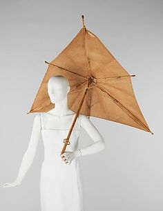 Parasol, by Elsa Schiaparelli, 1937-1940, French. In the Brooklyn Museum Costume Collection of The Metropolitan Museum of Art.