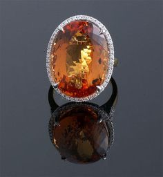 Imperial Topaz & Diamond Ring