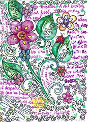 lovely; art journal ideas