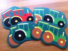 by SophiesWelt: Einladung zum Kindergeburtstag, Motto: Traktor