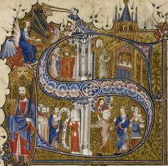 Egerton 3277 f. 46v Psalter, Use of Sarum ('The Bohun Psalter and Hours'), imperfect England (S. E., London?); 2nd half of the 14th century, after 1356, and probably before 1373