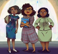 sweet , sassy, and always classy by Jackie Pataki.  SO cute!  Hidden Figures ladies  :)