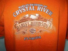 Harley-Davidson Orange T-Shirt 2XL Crystal River, Florida