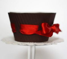 DIY Chocolate Heart Cupcake Topper & Wrapper