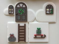 Pony Bead Patterns, Pearler Bead Patterns, Perler Patterns, Pearler Beads, Beading Patterns, Perler Bead Designs, Bead Crafts, Diy And Crafts, Cross Stitch Christmas Cards