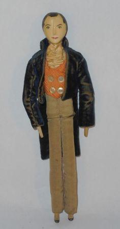 Antique *Wooden Peg Doll* Original Clothes