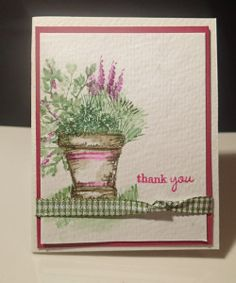 Watercolor Birthday Cards, Watercolor Cards, Watercolor Flowers, Watercolor Paintings, Drawing Flowers, Art Impressions Stamps, Paint Cards, Acrylic Painting Techniques, Marker Art