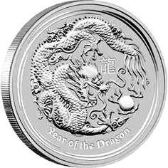 2012 Year of the Dragon - Australian Silver Lunar Bullion Coin - Reverse Side