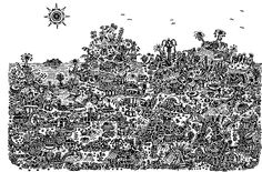 A unique doodle art gallery by Bill Price Six Words, Draw Something, Word Of The Day, English Words, Zentangle, Doodles, Diagram, Map, Drawings