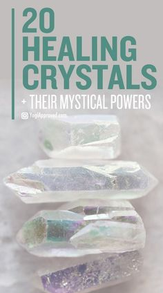 The Ultimate Crystal Healing Guide: 20 Powerful Crystals and Their Healing Properties Learn about 20 common healing crystals. Use this ultimate crystal healing guide and discover how Mother Earth's magic can help you heal your life naturally. Chakra Crystals, Crystals Minerals, Crystals And Gemstones, Stones And Crystals, Gem Stones, Crystals And Their Meanings, Gemstones Meanings, Healing Gemstones, Buy Crystals