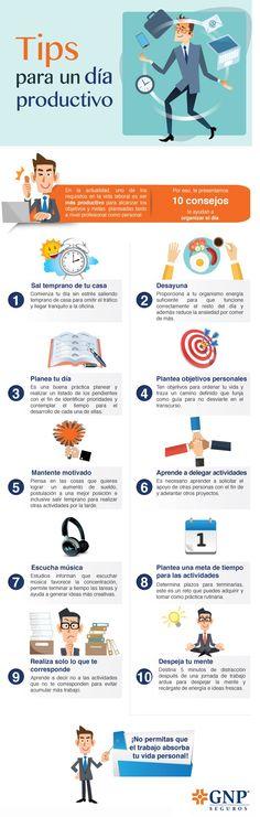 Organiza tu día con los 10 consejos que tenemos para ti. #GNP #seguros #