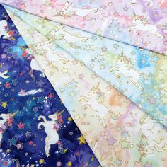 Shipping Shipping Japanese cotton fabric double yarn Phnom Penh hand clothing fabric stock Unicorn Star