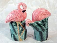 Pink Flamingo Salt and Pepper Shakers