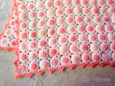 Ravelry: Flowers in the Clouds Baby Blanket by Sara Palacios