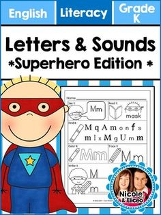 Superhero Alphabet Letters & Sounds - Great Intervention for RTI!