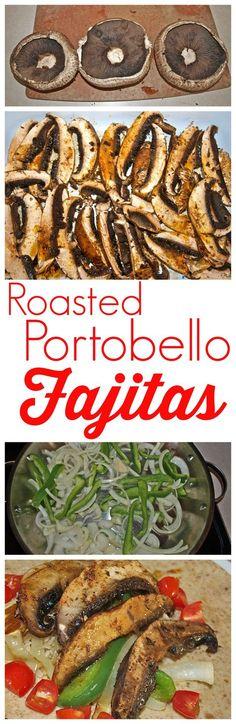 Estas fajitas asadas Portobello, son la mejor receta vegetariana!, rápida y sencilla - perfecto para Lunes sin carne!