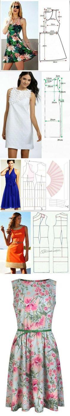 Los vestidos de ostentación veraniegos (+выкройки)