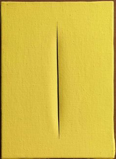 Available for sale from Robilant + Voena, Lucio Fontana, Concetto Spaziale Water-based paint on canvas, 33 × 24 cm Frieze Masters, Alberto Burri, Christo And Jeanne Claude, Action Painting, Italian Painters, Feminist Art, Process Art, Modern Artists, Art Graphique