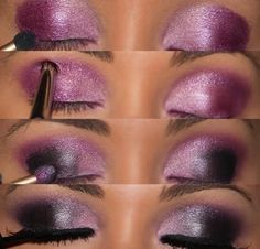 4 amazing Pink And Purple Smokey Eye Makeup For Evening
