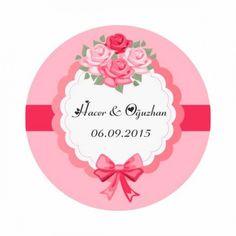 Çiçek Temalı Etiket Baskılar 24 Adet CCK0012