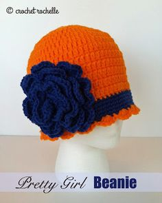 Crochet Rochelle: Pretty Girl Beanie  6 months to adult