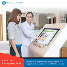#Interactive #Touchscreen #Kiosk can #increase #sales by #promoting #specials, add-on and suggestive #sales, #accessories or additional #services. #TucanaGlobalTechnology #Manufacturer #Hongkong