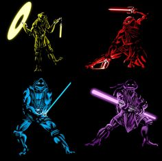 Obvious Winner - So Easy To See The Awesomeness - ow Anime Characters, Tmnt Turtles, Turtle Party, Jedi Knight, Teenage Mutant Ninja Turtles, Sith, Ninja Turtle Tattoos, Graphics, Star Wars