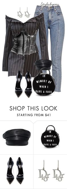 """""""When I Gave A F***"""" by stylesbyems ❤ liked on Polyvore featuring Dsquared2, Killstar, Gianvito Rossi and Christian Dior"""