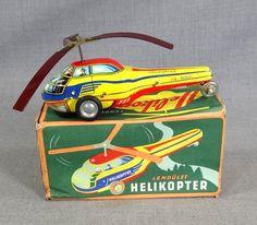 VTG HUNGARIAN E.F.LEMEZ HELICOPTER CHOPPER HELI FRICTION DRIVE LITHO TIN TOY&BOX | eBay