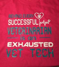 Vet Tech Shirt Verterinarian Technician by CrookedArrowDesign