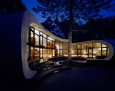 """Kotaro Ide's Shell House, Nagano, Japan. """"Desiring a place that will be occupied frequently over many years and yet at the same time be in sync with nature, we came up with.... a large shell structure floating above ground."""""""