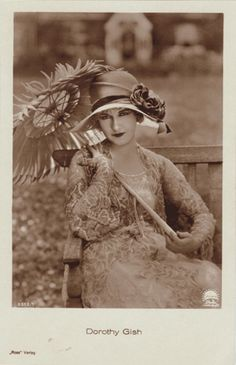 Dorothy Gish 1898-1963, American actress, younger sister to Lillian Gish, both silent screen actresses, many of which they were in together.