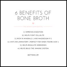 ::The Skinny Confidential talks diet and fitness - Bone broths are nutrient-dense, easy to digest, rich in flavor and–they boost healing::