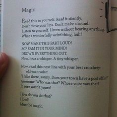 Magic of reading