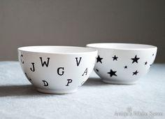 Anicja's White Space: Sharpie DIY czyli zaprojektuj sobie kolekcję porcelany
