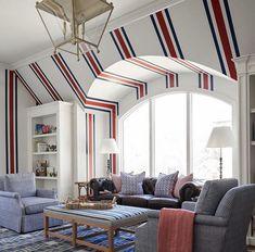 rich living rooms stripes happy interior designs