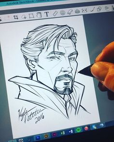 Sweet sketch Have you seen the new Dr. Strange movie yet? Avengers Drawings, Drawing Superheroes, Avengers Art, Marvel Art, Thor Drawing, Comic Book Drawing, Doctor Strange Drawing, Dr Strange, Anime Drawings Sketches