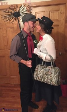 Mary Poppins and Bert - 2015 Halloween Costume Contest via @costume_works