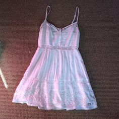 Abercrombie White Sun Dress Worn, but in good condition Abercrombie & Fitch Dresses Mini