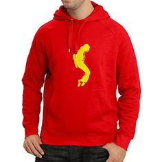 N4108H sudadera con capucha I love MJ fans, Fruit of the loom Men's (X-Large Rojo Amarillo) #camiseta #realidadaumentada #ideas #regalo