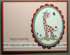 amyk3868 on SCS. Love this baby card.