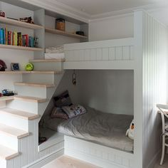 Child's room with bespoke bunk bed and shelves | Shelving ideas | PHOTO GALLERY | Livingetc | Housetohome.co.uk