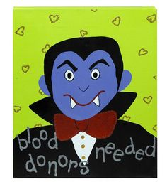 DecoArt® Vampire Wall Canvas #halloween #craft