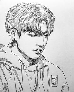 Pin de karo en bts / jebutne koreańce / k-pop desenhos aleat Bts Jungkook, Fanart Bts, Jungkook Fanart, Drawing Lessons, K Pop, Kpop Drawings, Bts Fans, Disney Fan Art, Drawing Sketches
