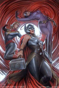 Captain Marvel, Thor & Medusa