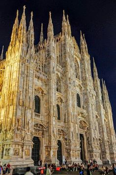 Milan Cathedral at Night - Milan Italy