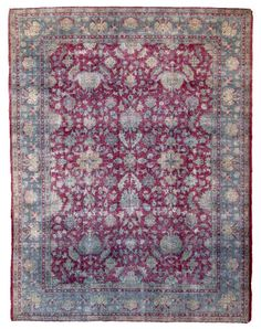 Agra Antique Rug Number 10953, Antique Indian Rugs | Woven Accents